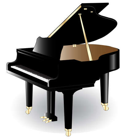 illustration of piano. Vector