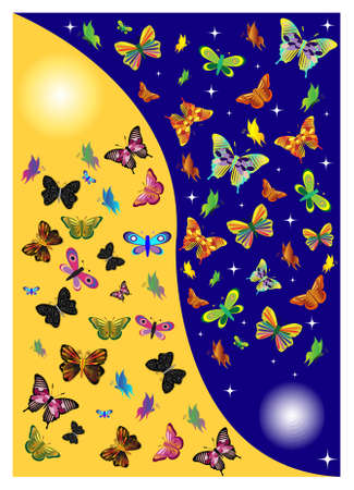butterflies in one day. Vector