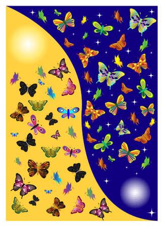butterflies in one day. Stock Vector - 14519362
