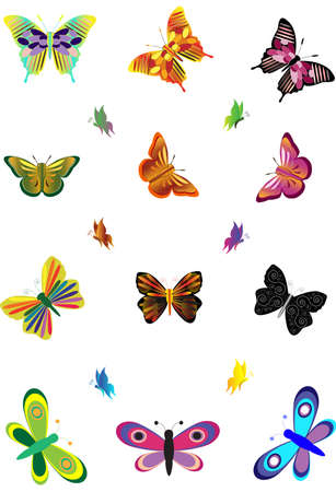 butterflies. Stock Vector - 14604608