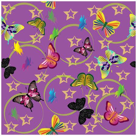 pattern butterflies. Stock Vector - 14712828