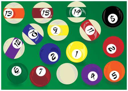 pool game: Pool game Illustration