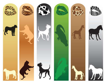 separator: Book separator with animals