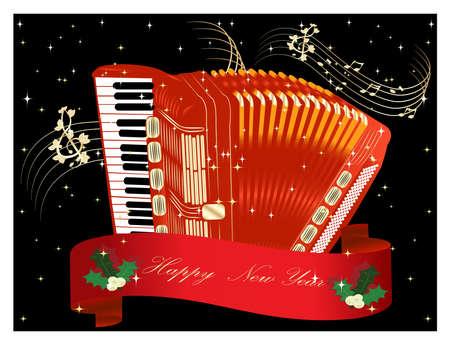 chiave di violino: Fisarmonica rossa - Nuovo set Anno