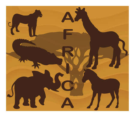 Animal silhouettes - Africa