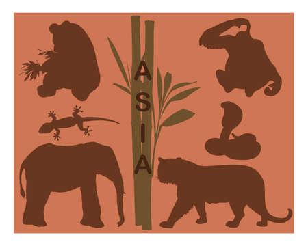 Animal silhouettes - Asia Illustration