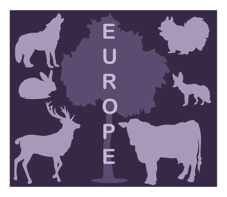 animal: Animal silhouettes - Europe