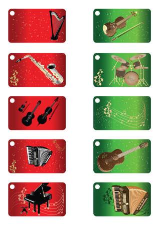 chiave di violino: Biglietti di auguri - Musica