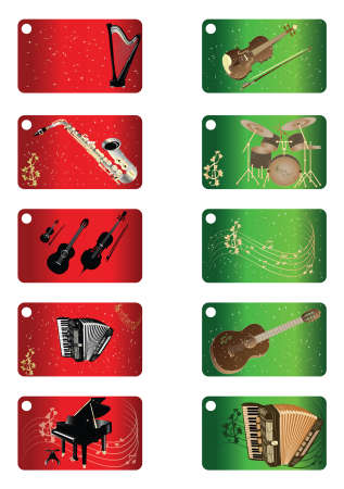 red drum: Greeting cards - Music