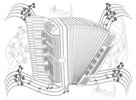 Coloring page - Accordion