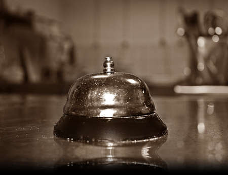 Kitchen bell - black and white