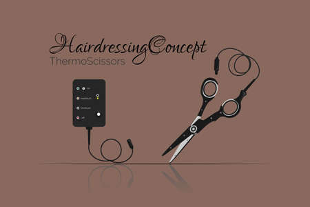 thermo: Innovative haircut. Illustration can be used as icon, as advertising. Vector
