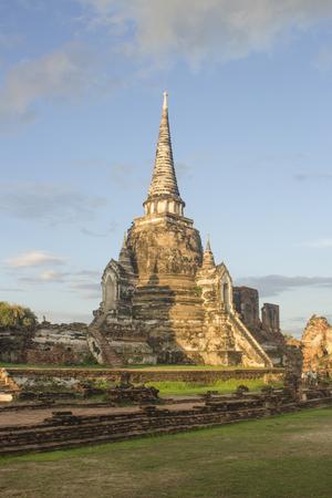 Famous Thai temple, Wat Phra Si Sanphet in Ayutthaya, Thailand Фото со стока