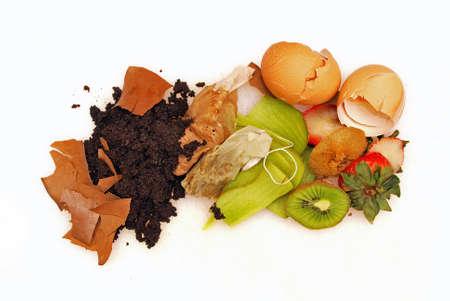basura organica: Casa residuos orgánicos listos para el compost Foto de archivo