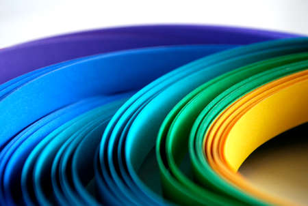 Color paper strips