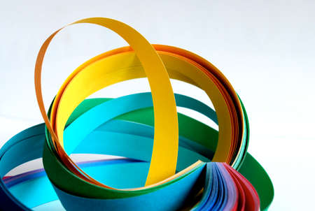 Color paper strips