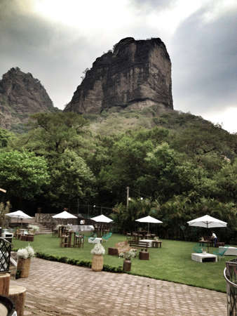 morelos: Wedding reception by the Tepozteco Mountain in Tepoztln, Morelos, Mexico