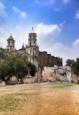 morelos: Mexican colonial church in Tepoztlan