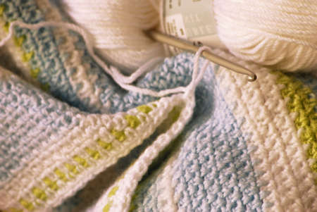 Image of a blanket in process