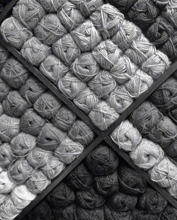 Black and white background of yarn