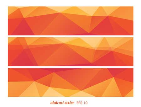 gamma: Orange gamma triangle geometric banners