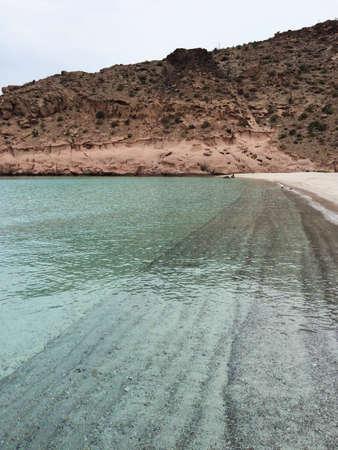 baja california: Long beach at Baja California Sur, near La Paz, Mexico