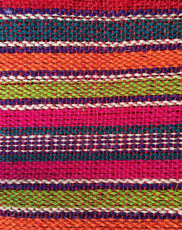 traditional textured: Background color striped Mexican texture Stock Photo