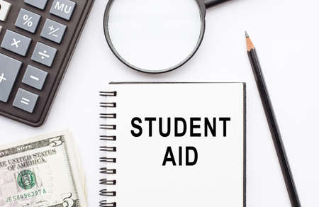 Text sign showing Student Aid. Conceptual photo financial assistance designed to help students pay for school.