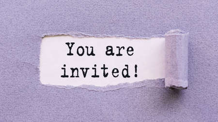 You are invited lettering on a white background