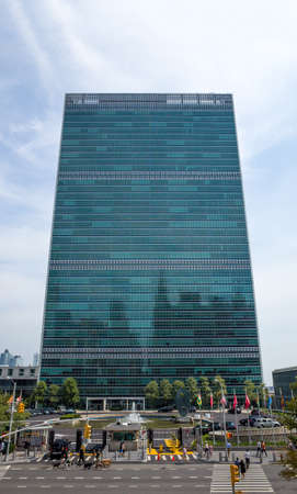 the united nations: sede de la Ciudad de las Naciones Unidas Naciones Unidas Nueva York - 31 de agosto de 2015, 1st Avenue, Nueva York, Nueva York, EE.UU.