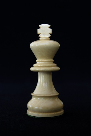 no surrender: Close-up of a king chess piece Stock Photo