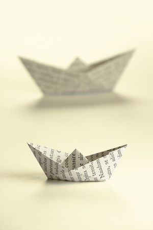 paper folding: Two paper boats