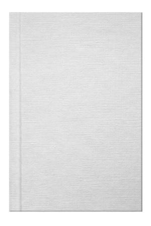 리넨 텍스처와 빈 흰색 책 스톡 콘텐츠