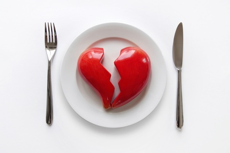 Plate with broken heart photo