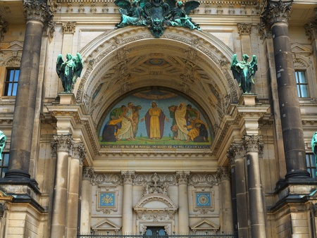 dom: Detail of Berlin Cathedral or Berliner Dom Stock Photo