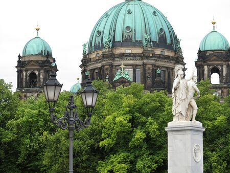 dom: The baroque style Berlin Cathedral or Berliner Dom is an evangelical church dating back to the 15th century  Stock Photo