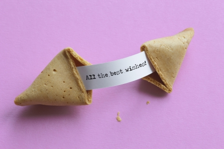 Broken fortune cookie All the best wishes