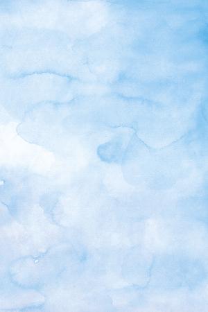 높은 해상도 블루 수채화 배경