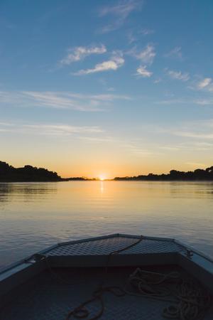 Beautiful Sunrise over River in the Brasil Pantanal