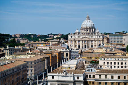 rom: Petersdom Rom Stock Photo