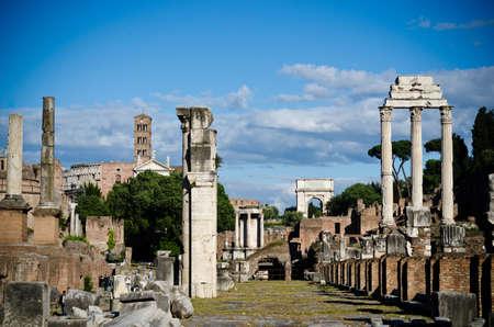 reisen: Forum Romanum Stock Photo