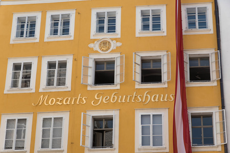 amadeus: Birthplace of Wolfgang Amadeus Mozart, Salzburg, Austria Stock Photo