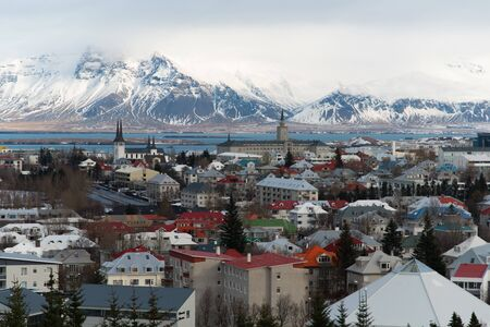 View over Reykjavik from Perlan