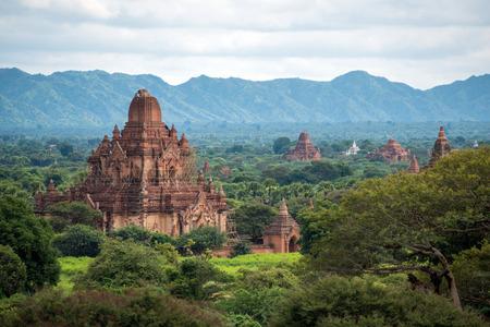 View of Bagan plains with pagodas, Myanmar Stock Photo