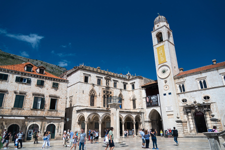 View of Luza square in the old town of Dubrovnik, Croatia