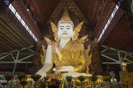 Gigantic Buddha image at Ngahtatgyi temple, Yangon, Myanmar