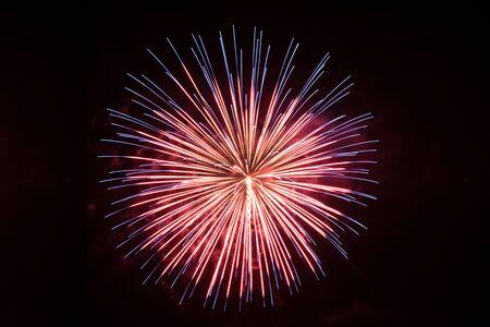 Beautiful single firework in red