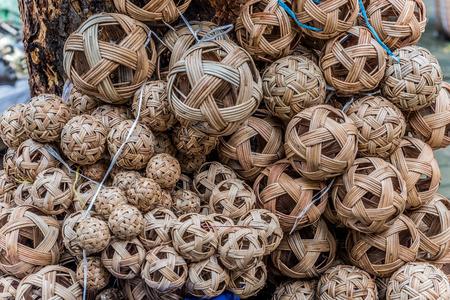 Sepak takraw or rattan balls