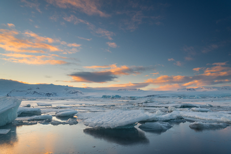 Ices in Jokulsarlon, the biggest glacier lagoon in Iceland