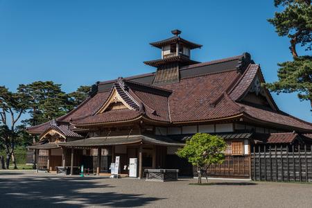 Former magistrate office in the center of Fort Goryukaku, Hakodate, Hokkaido, Japan